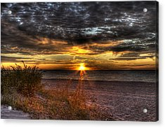Acrylic Print featuring the photograph Sunrise Over New York Bay by Yelena Rozov