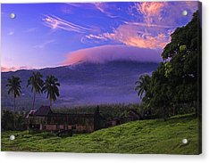 Acrylic Print featuring the photograph Sunrise Over Plantation Ruins- St Lucia by Chester Williams
