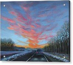 Sunrise Over The Highway Acrylic Print