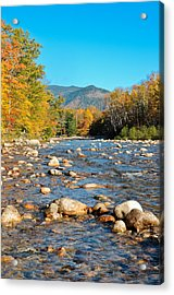 Sunrise Over The Saco Vertical Acrylic Print by Geoffrey Bolte