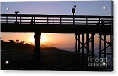Sunrise Pier Ventura Acrylic Print