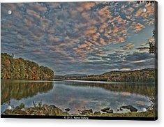 Sunrise Putnam Lake Acrylic Print by Nancy Rohrig