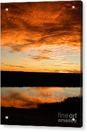 Sunrise Reflections Acrylic Print by Sara  Mayer