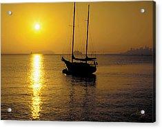 Sunrise Sailing Acrylic Print by Richard Leon