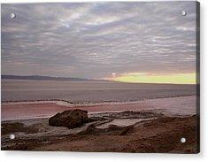 Sunrise Salt Lake - Tunisia  Acrylic Print by Simona  Mereu