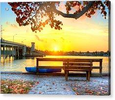 Sunrise Seista Drive Horizontal Acrylic Print by Jenny Ellen Photography