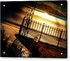 Acrylic Print featuring the photograph Sunrise Street Reflections by Cindy Wright