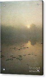 Sunrise Through Mist Acrylic Print by Paul Grand
