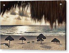 Sunrise Viewed From The Beach Acrylic Print by Bryan Mullennix