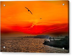 Sunrise Willhelm Stadt Acrylic Print by Rick Bragan