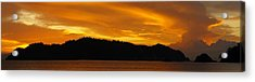 Sunscape Panorama  Curu National Wildlife Park Costa Rica Panorama Acrylic Print