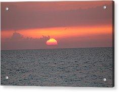 Sunset - Cuba Acrylic Print by David Grant