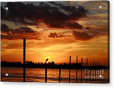 Sunset 1-1-12 Acrylic Print by Lynda Dawson-Youngclaus