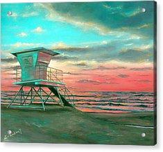 Sunset 1 Acrylic Print by Lisa Reinhardt