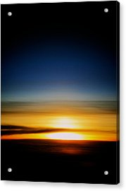 Sunset Above The Clouds Acrylic Print by Jyotsna Chandra
