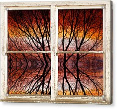 Sunset Abstract Rustic Picture Window View Acrylic Print by James BO  Insogna