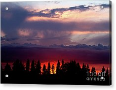 Acrylic Print featuring the photograph Sunset After Storm by Charles Lupica