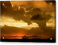 Sunset After The Storm Acrylic Print by Ellen Heaverlo