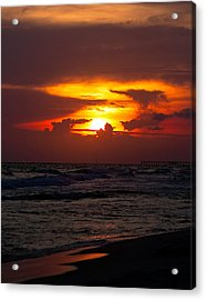 Acrylic Print featuring the photograph Sunset by Anna Rumiantseva