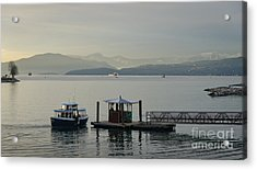 Sunset Aquatic Beach Centre Vancouver Bc Canada Acrylic Print by Andy Smy