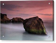 Sunset At Arch Rock Acrylic Print by Dave Sribnik
