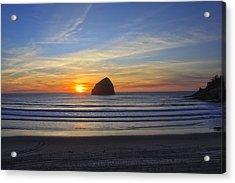 Sunset At Cape Kiwanda Oregon Acrylic Print