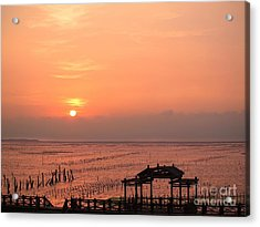 Sunset At Cigu Bay Acrylic Print by Yali Shi