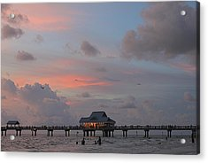 Sunset At Clearwater Beach Acrylic Print by Jeanne Kay Juhos