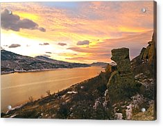 Sunset At Horsetooth Dam Co. Acrylic Print by James Steele