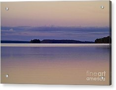 Sunset At Lake Muojaervi Acrylic Print by Heiko Koehrer-Wagner
