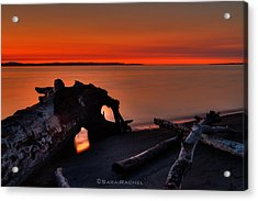 Sunset At Marina Beach Park In Edmonds Washington Acrylic Print by Sarai Rachel