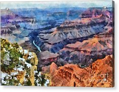 Sunset At Mohave Point At The Grand Canyon Acrylic Print