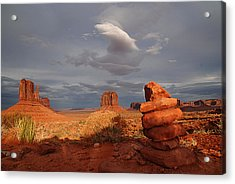 Sunset At Monument Valley Acrylic Print