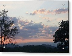 Acrylic Print featuring the photograph Sunset At Oak Hill Farm by Elizabeth Coats