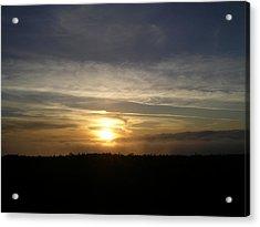 Sunset At Ocean Beach Acrylic Print