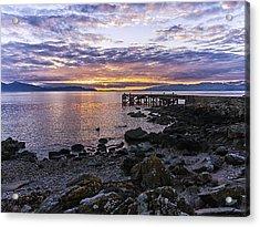 Sunset At Portencross Jetty Acrylic Print