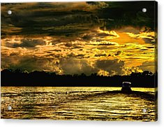 Sunset At Ri Negro Acrylic Print