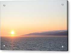 Sunset At Sea Acrylic Print