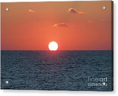 Sunset At Sea Acrylic Print by Marilyn West