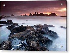 Sunset At Seal Rock Acrylic Print