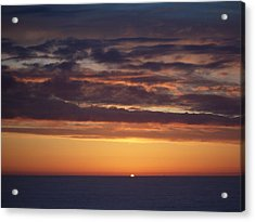Acrylic Print featuring the photograph Sunset At Surfside 4 by Peter Mooyman