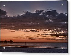 Sunset At The Beach Acrylic Print by Chuck Bowser