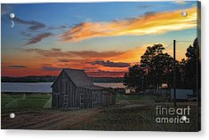 Acrylic Print featuring the photograph Sunset At The Bog by Gina Cormier