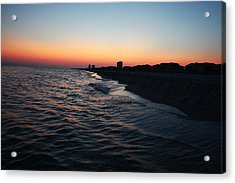 Sunset At The Gulf Shores Acrylic Print