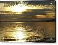 Sunset At The Harbor Acrylic Print by Jerry Cahill
