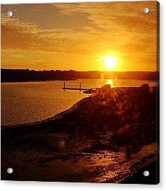Sunset At The Marshlands. Acrylic Print