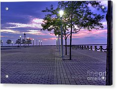 Sunset At The Plaza Acrylic Print by David Bearden
