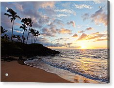 Sunset At Ulua Beach Acrylic Print