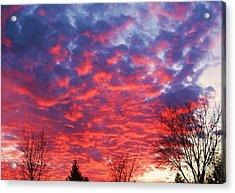 Sunset Acrylic Print by Barron Peterson