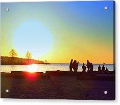 Sunset Beach Party Acrylic Print